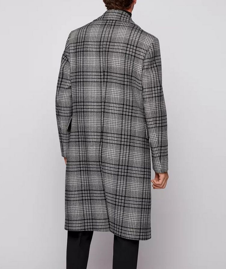 Double Breasted Checked Overcoat image 2