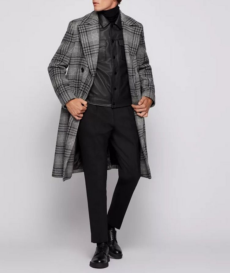 Double Breasted Checked Overcoat image 4