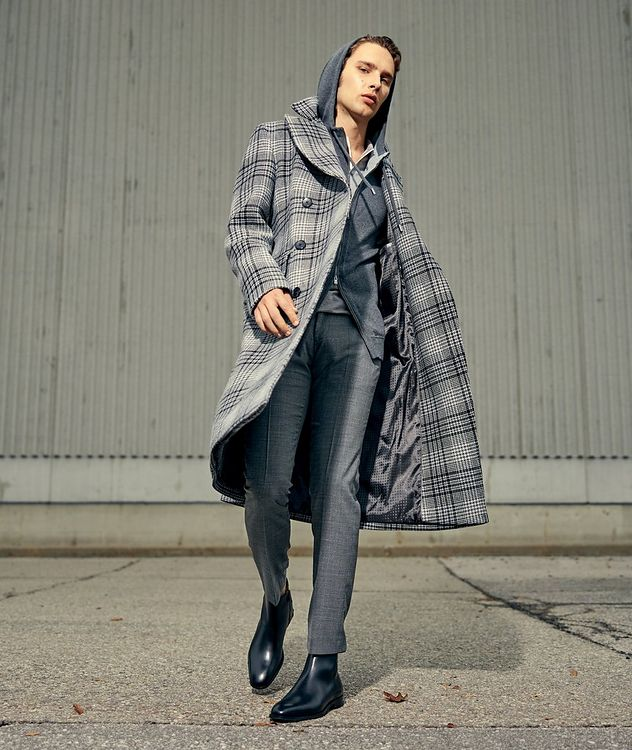 Double Breasted Checked Overcoat picture 6