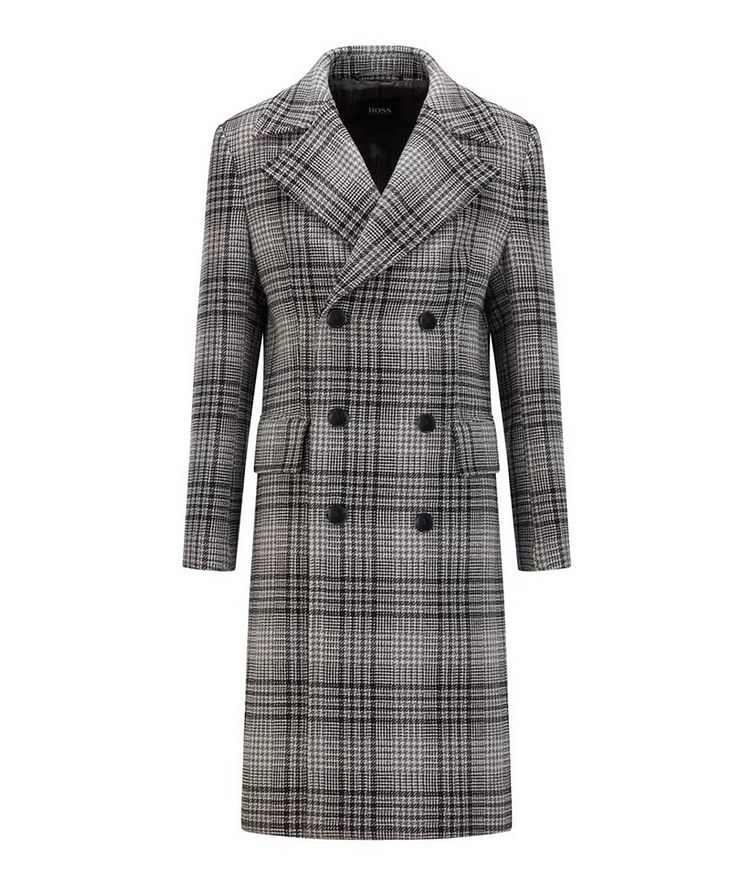 Double Breasted Checked Overcoat image 0