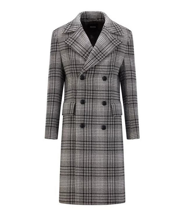 Double Breasted Checked Overcoat picture 1