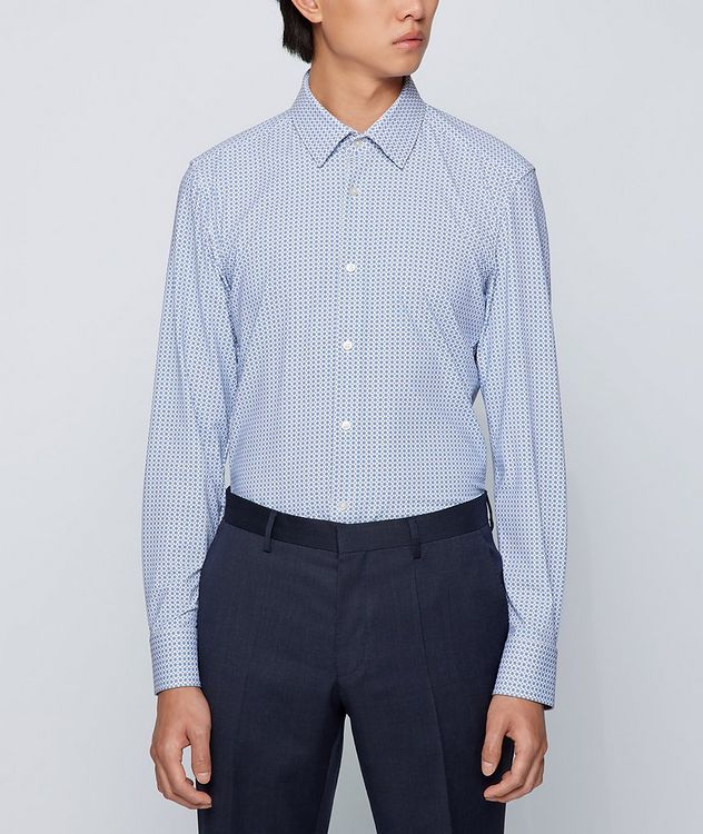 Hank Slim Fit Stretch Jersey Dress Shirt picture 2