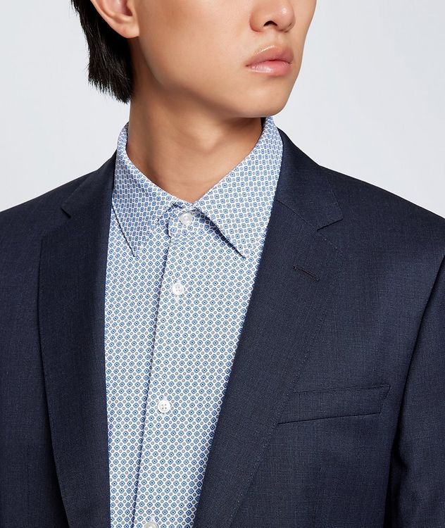 Hank Slim Fit Stretch Jersey Dress Shirt picture 5