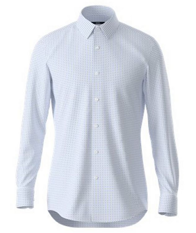 Hank Slim Fit Stretch Jersey Dress Shirt picture 1