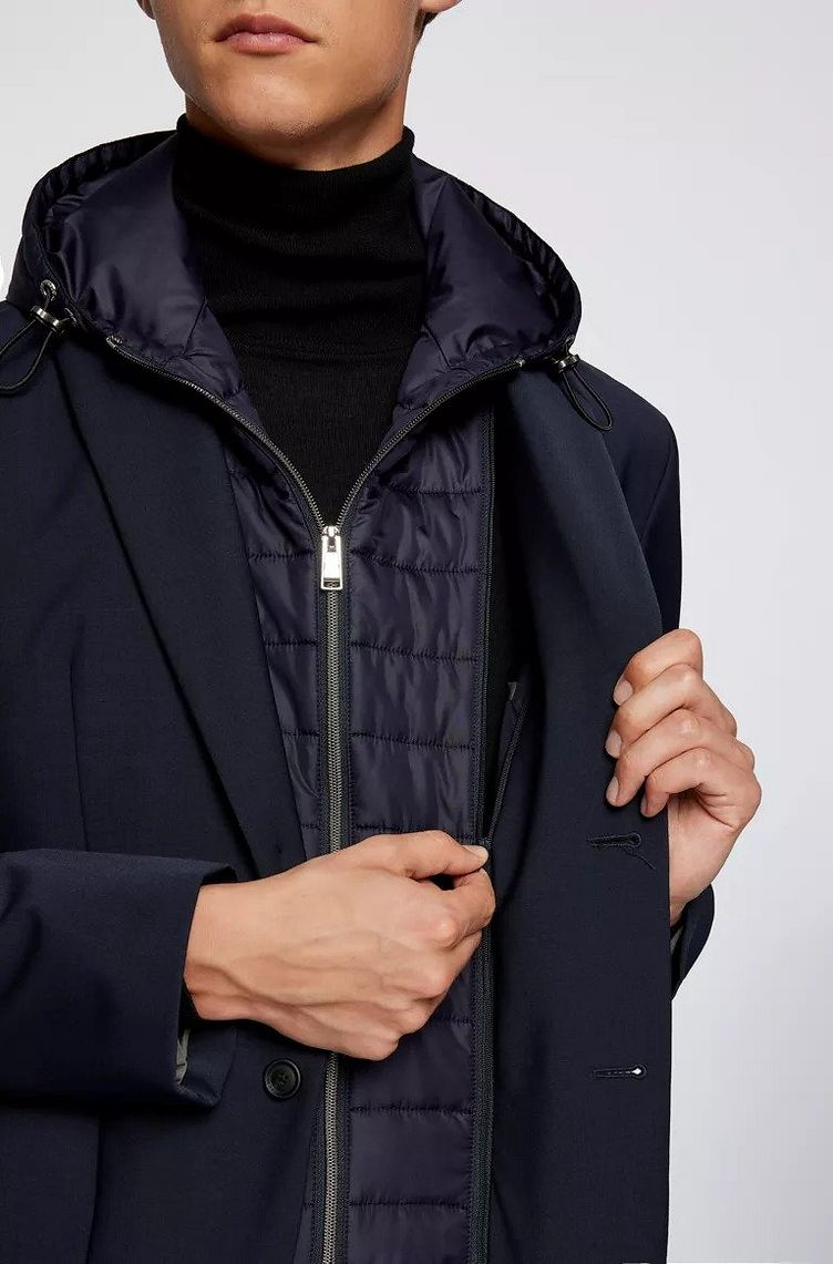 Hooded Padded Wool-Blend Sports Jacket image 2