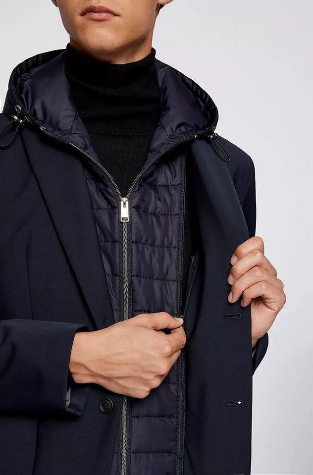 Hooded Padded Wool-Blend Sports Jacket picture 3