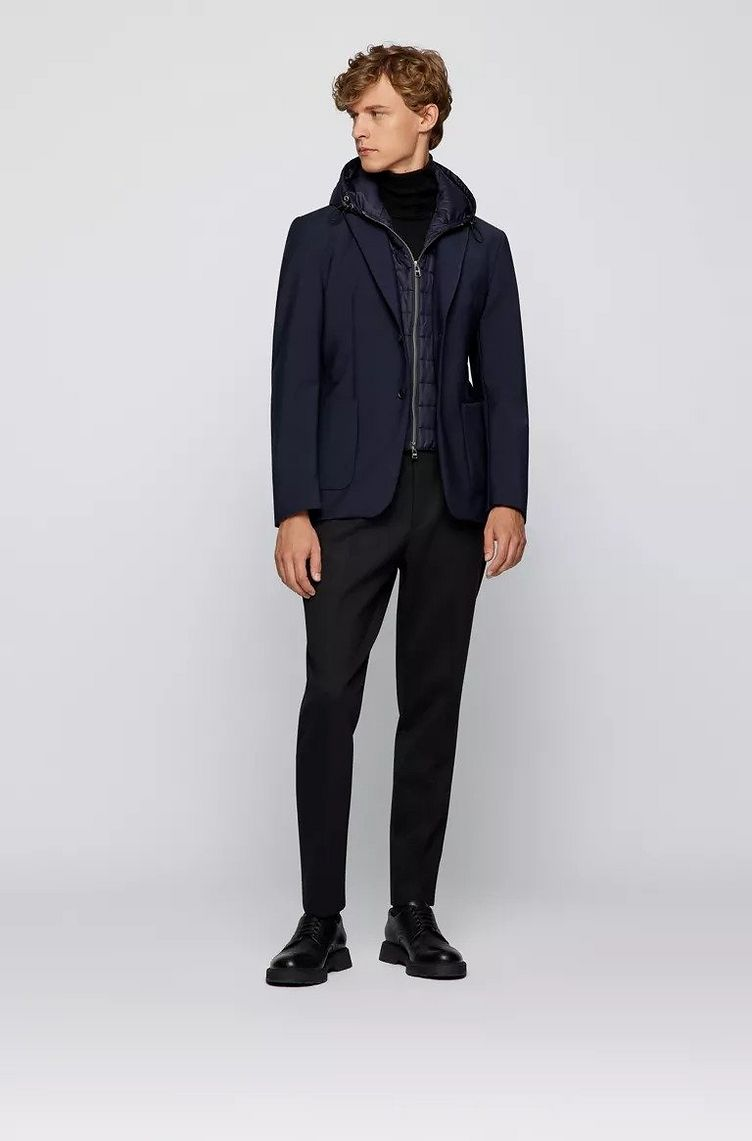 Hooded Padded Wool-Blend Sports Jacket image 3