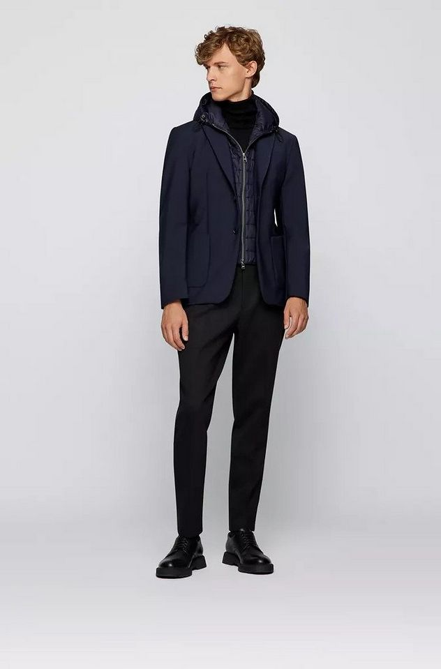 Hooded Padded Wool-Blend Sports Jacket picture 4