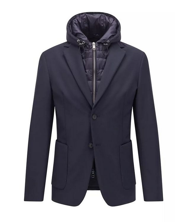 Hooded Padded Wool-Blend Sports Jacket picture 1