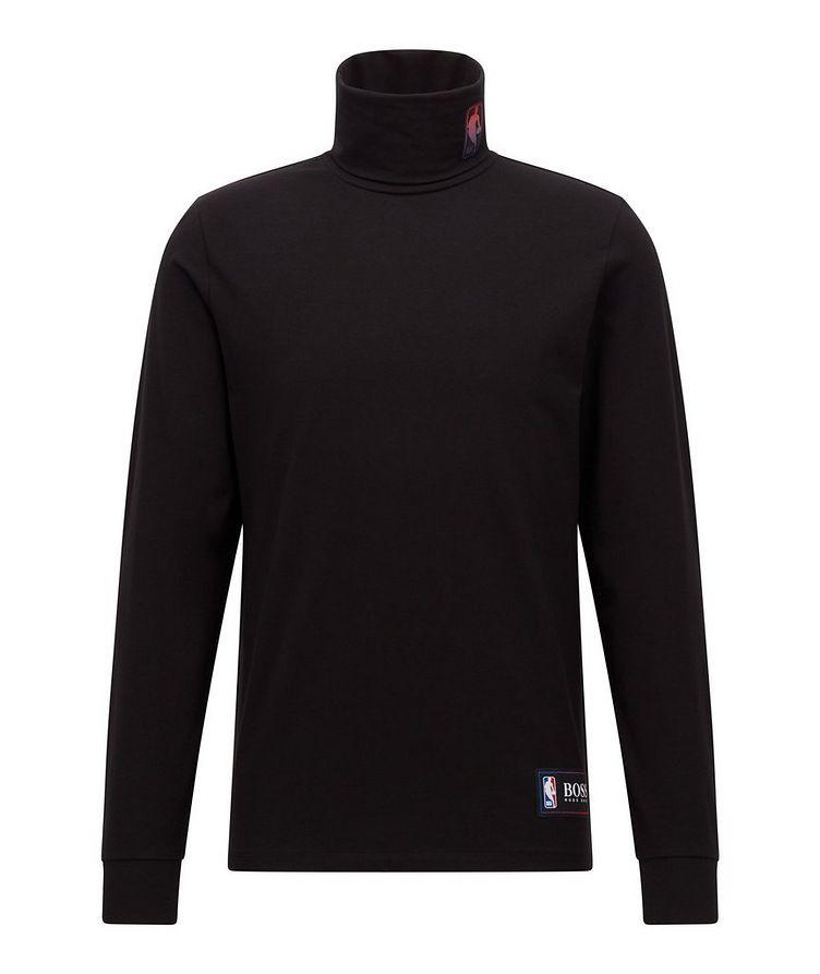 BOSS X NBA Logo Stretch-Cotton Turtleneck image 0