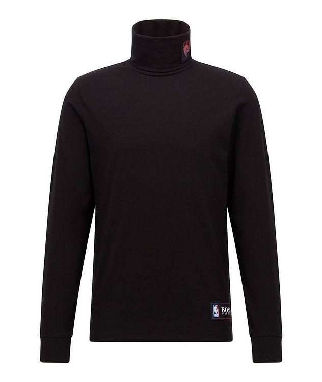BOSS X NBA Logo Stretch-Cotton Turtleneck picture 1