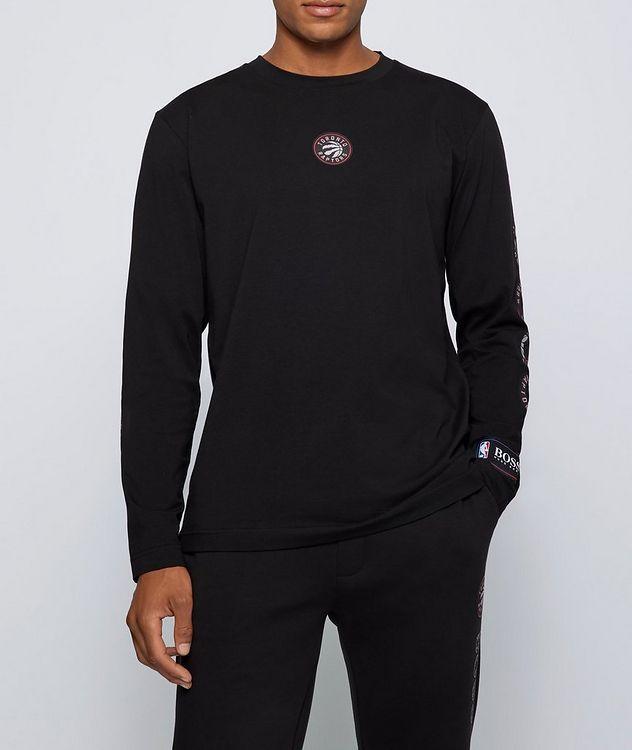 BOSS X NBA Long-Sleeve Stretch-Cotton T-Shirt picture 2