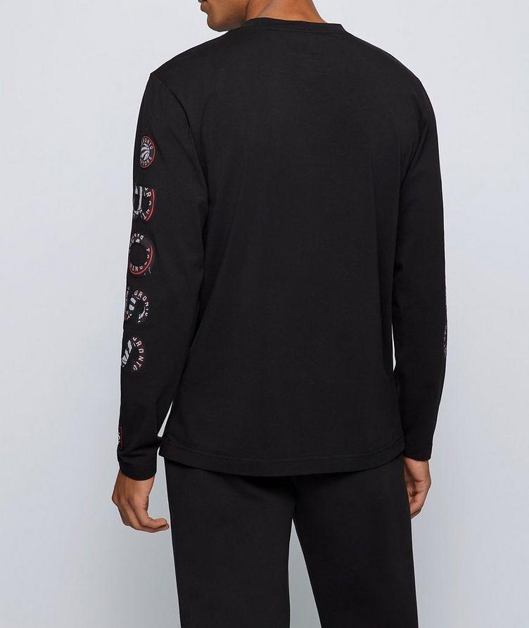 BOSS X NBA Long-Sleeve Stretch-Cotton T-Shirt image 2