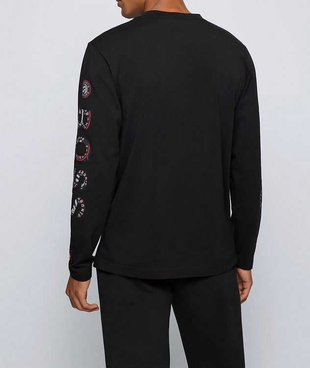 BOSS X NBA Long-Sleeve Stretch-Cotton T-Shirt picture 3