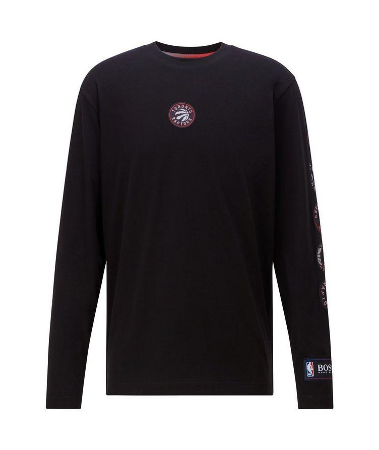 BOSS X NBA Long-Sleeve Stretch-Cotton T-Shirt image 0