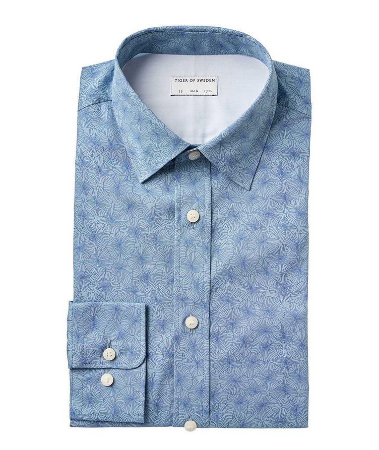 Slim Fit Floral Cotton Dress Shirt image 0