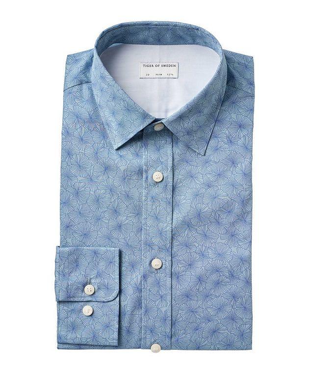 Slim Fit Floral Cotton Dress Shirt picture 1