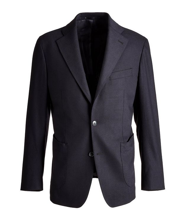 Slim Fit Stretch-Wool Sports Jacket picture 1