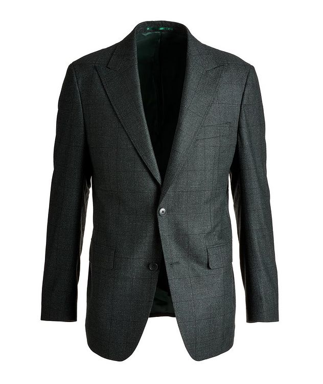 Slim Fit Glen Checked Wool Sports Jacket picture 1