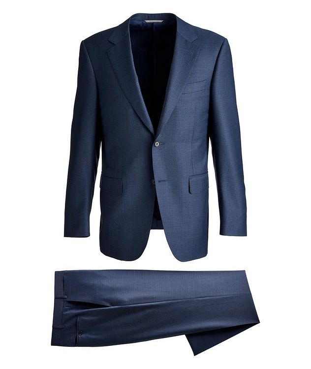 Contemporary Fit Houndstooth Wool Suit  picture 1