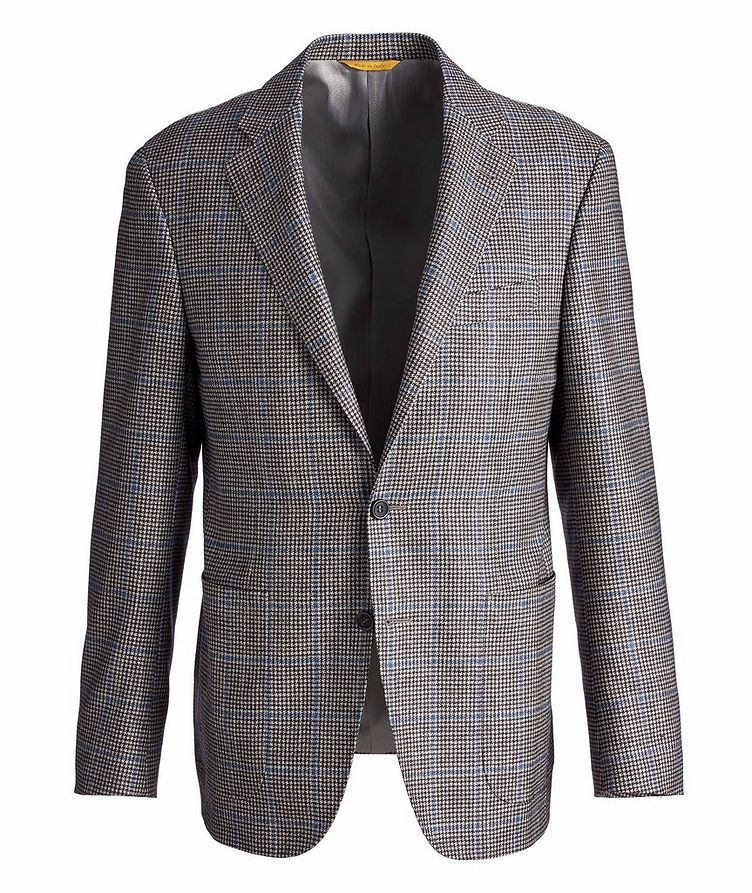 Kei Houndstooth Checked Wool, Cashmere & Silk Sports Jacket image 0