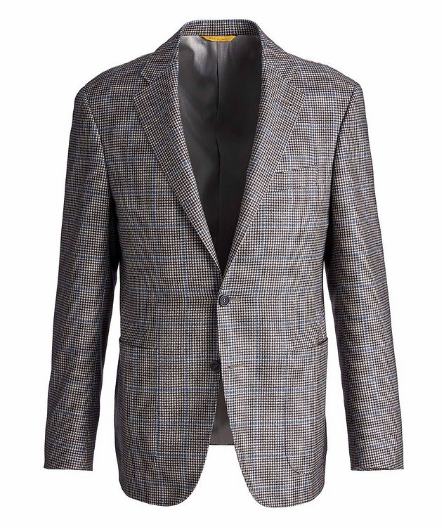 Kei Houndstooth Checked Wool, Cashmere & Silk Sports Jacket picture 1
