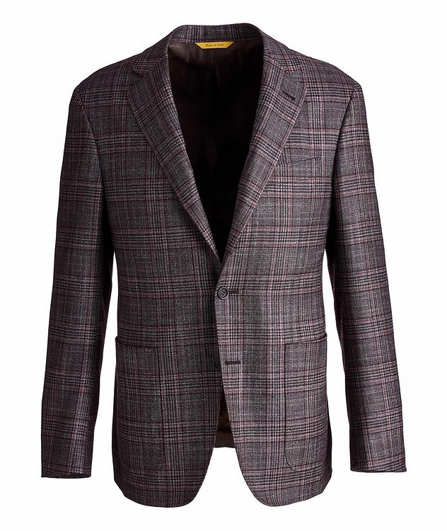 Kei Plaid Wool, Cashmere & Silk Sports Jacket picture 1