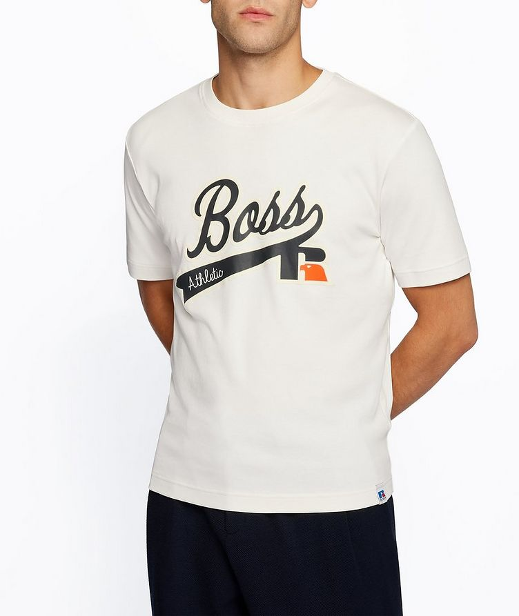 BOSS x Russell Athletic Logo Cotton T-Shirt image 1