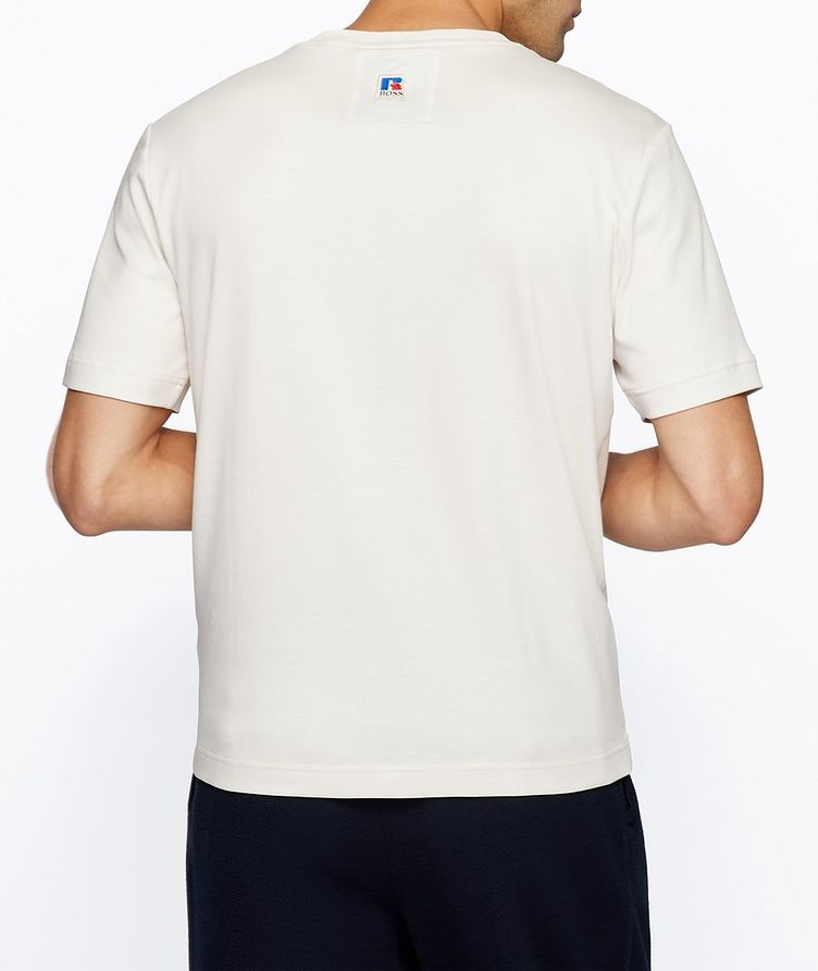 BOSS x Russell Athletic Logo Cotton T-Shirt image 2