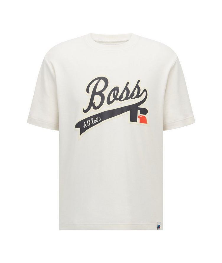 BOSS x Russell Athletic Logo Cotton T-Shirt image 0