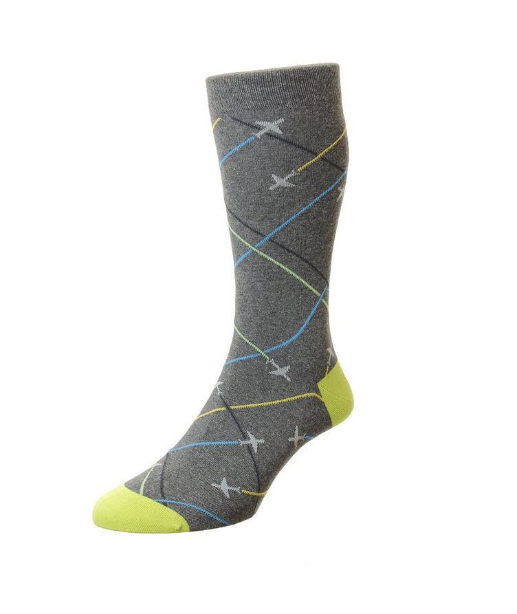 Planes Cotton-Blend Dress Socks image 0