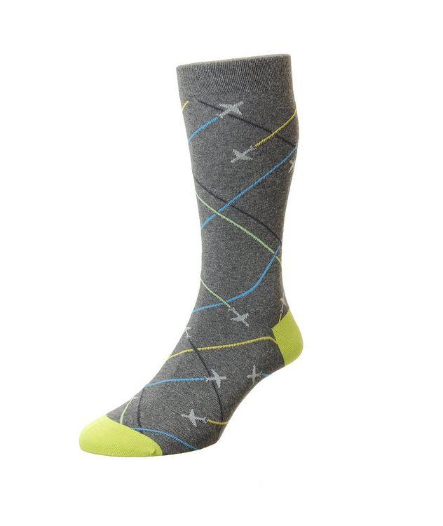 Planes Cotton-Blend Dress Socks picture 1