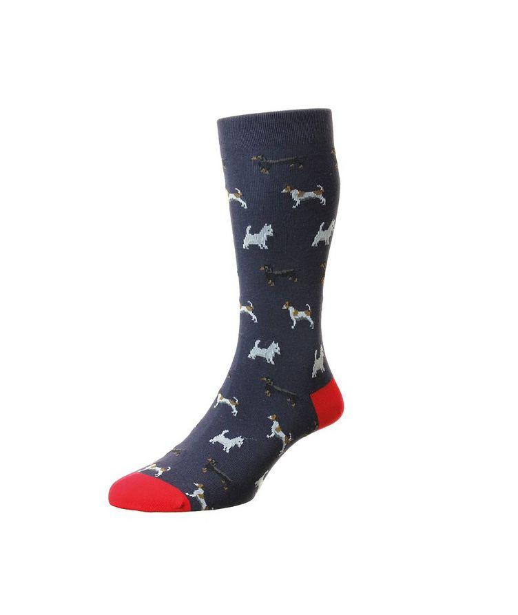 Dogs Cotton-Blend Dress Socks image 0