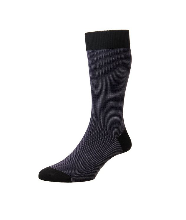 Tewkesbury Birdseye Cotton-Blend Dress Socks picture 1