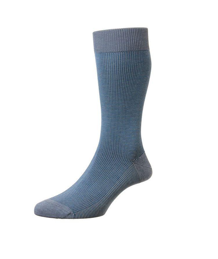 Tewkesbury Birdseye Cotton-Blend Dress Socks image 0