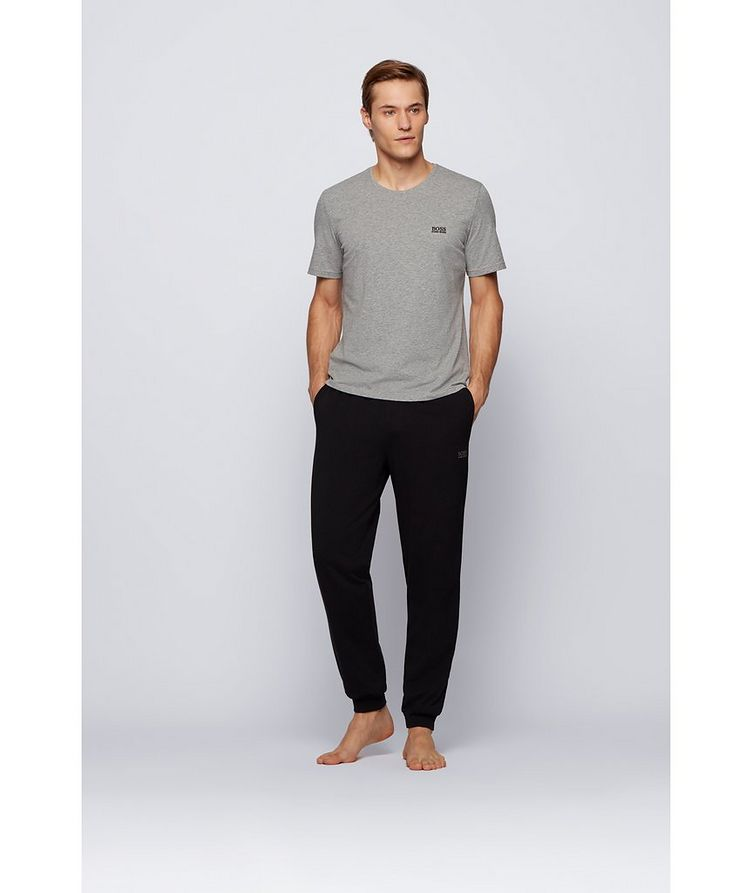 Drawstring Cotton Sweatpants image 1