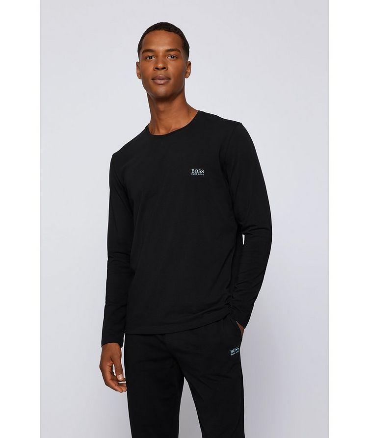 Long-Sleeve Stretch-Cotton T-Shirt image 1