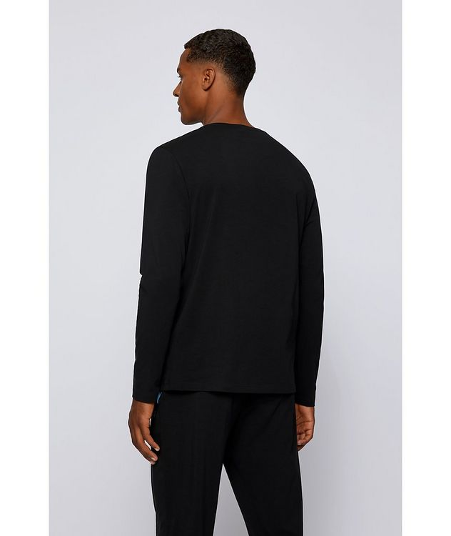 Long-Sleeve Stretch-Cotton T-Shirt picture 3