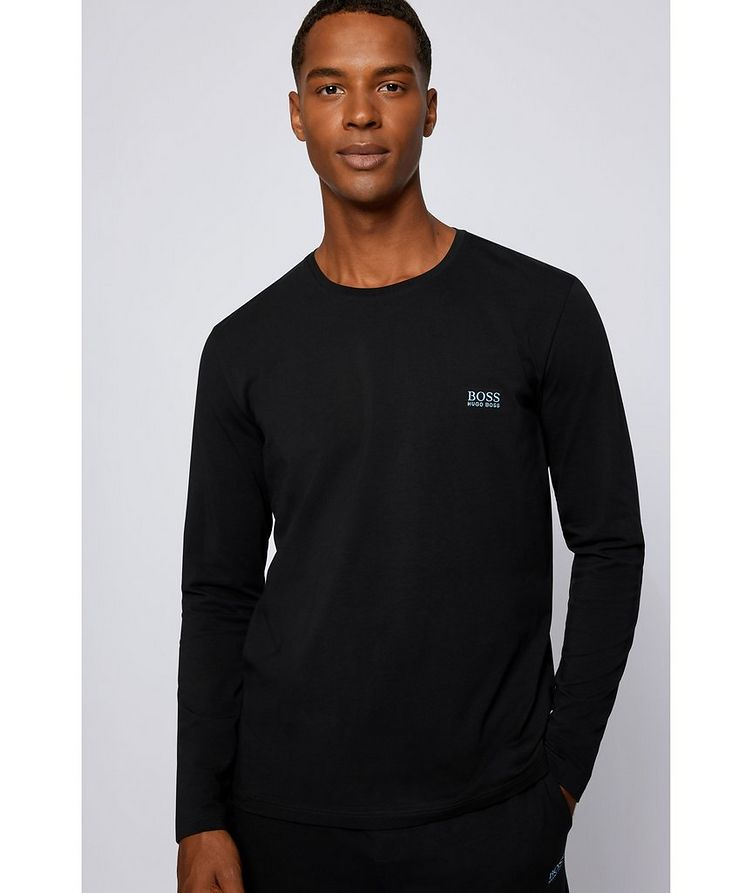 Long-Sleeve Stretch-Cotton T-Shirt image 3