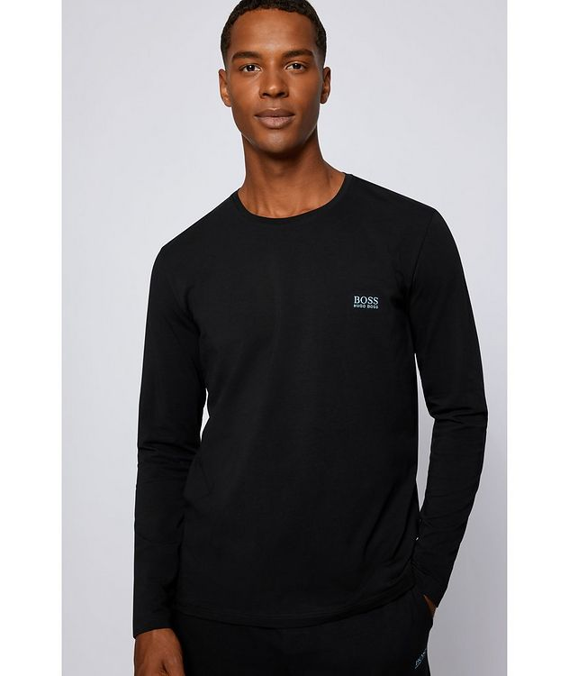 Long-Sleeve Stretch-Cotton T-Shirt picture 4