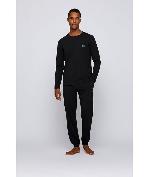 Long-Sleeve Stretch-Cotton T-Shirt picture 5