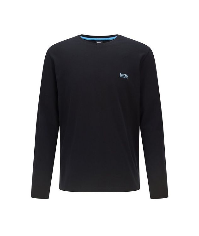 Long-Sleeve Stretch-Cotton T-Shirt picture 1