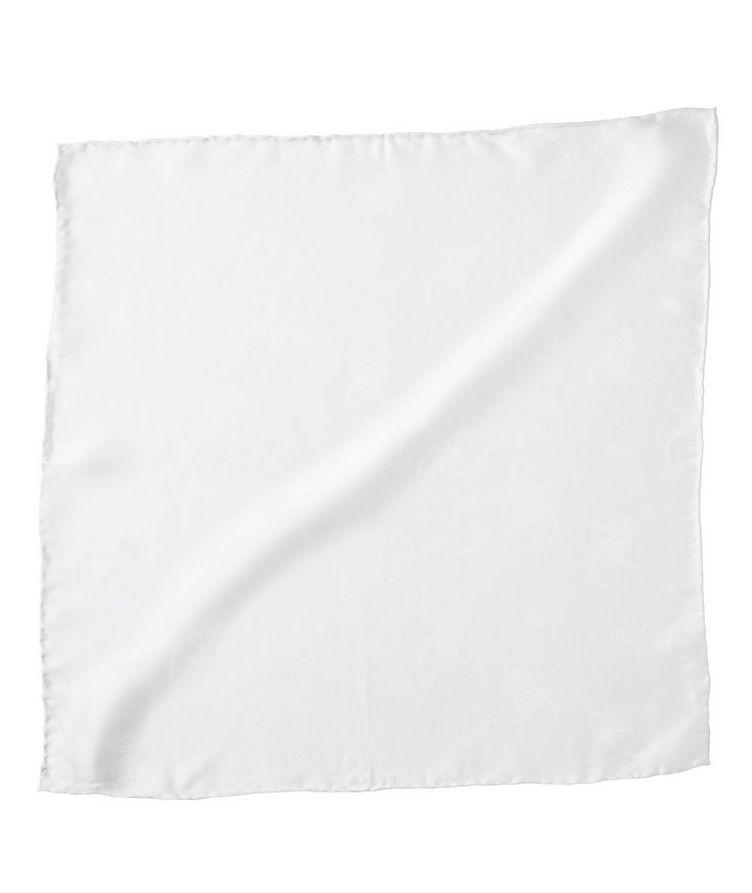 Jacquard Paisley Silk Pocket Square image 0
