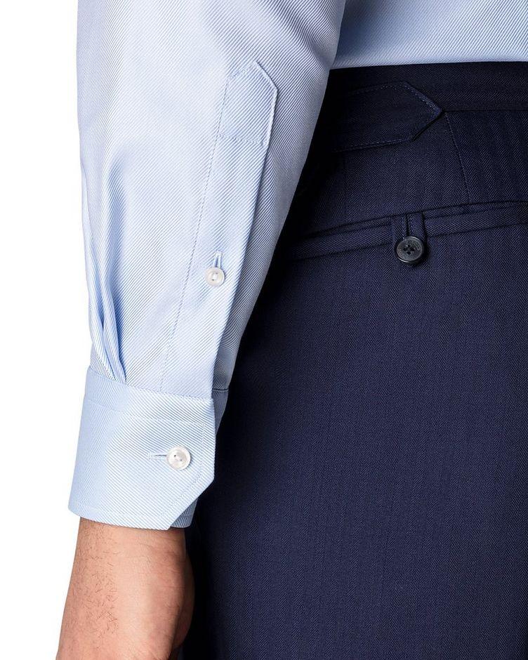 Chemise habillée à tissage diagonal de coupe contemporaine image 3