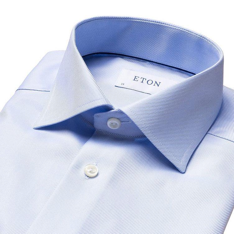 Chemise habillée à tissage diagonal de coupe contemporaine image 4