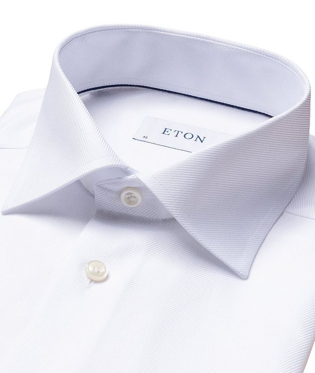 Chemise habillée à tissage diagonal de coupe contemporaine picture 7