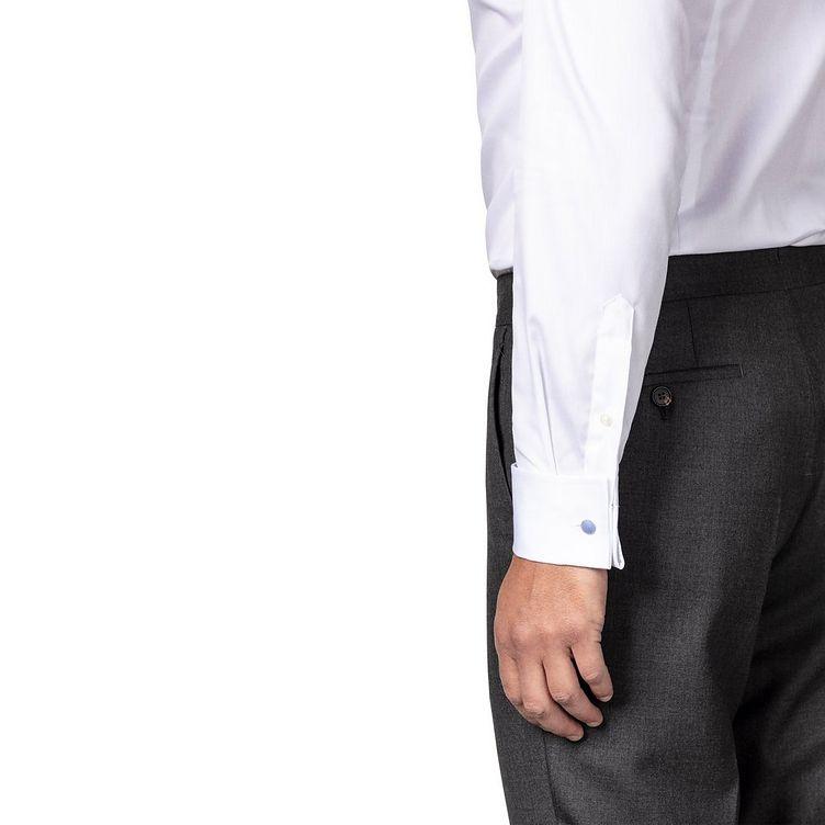 Chemise habillée en twill aux poignets français de coupe contemporaine image 3