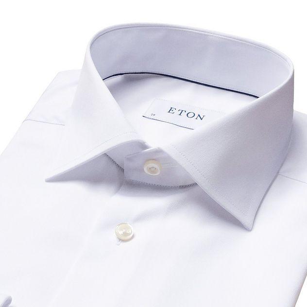 Chemise habillée en twill aux poignets français de coupe contemporaine picture 5