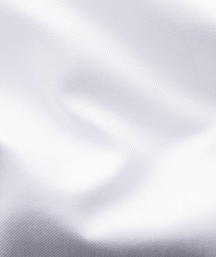 Chemise habillée en twill aux poignets français de coupe contemporaine image 6