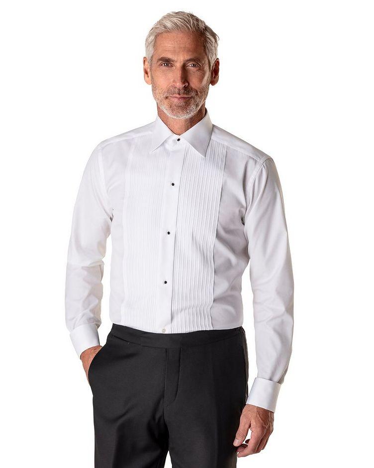 Slim Fit Pleated Bib Front Tuxedo Shirt  image 1